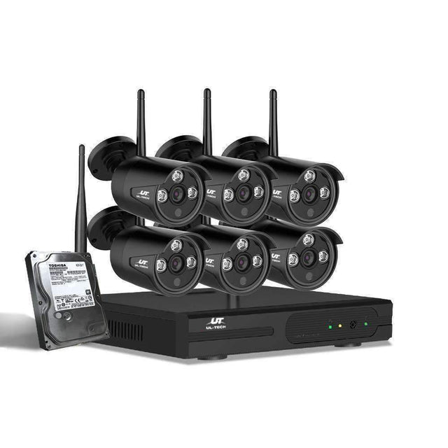 UL-tech CCTV Wireless Security Camera System 8CH Home Outdoor WIFI 6 Bullet Cameras Kit 1TB - kartcamel.com.au