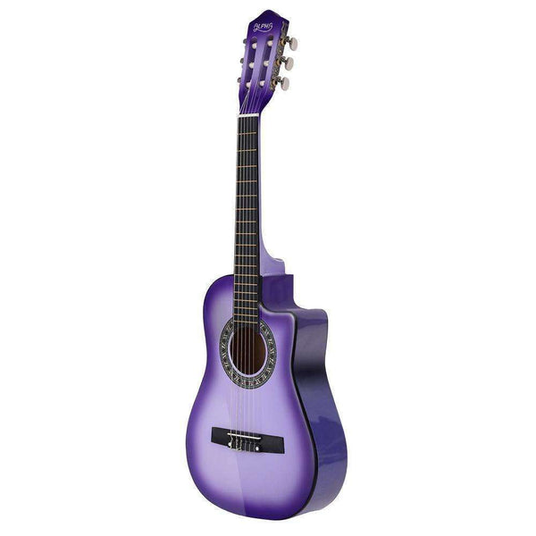"Alpha 34"" Inch Guitar Classical Acoustic Cutaway Wooden Ideal Kids Gift Children 1/2 Size Purple"
