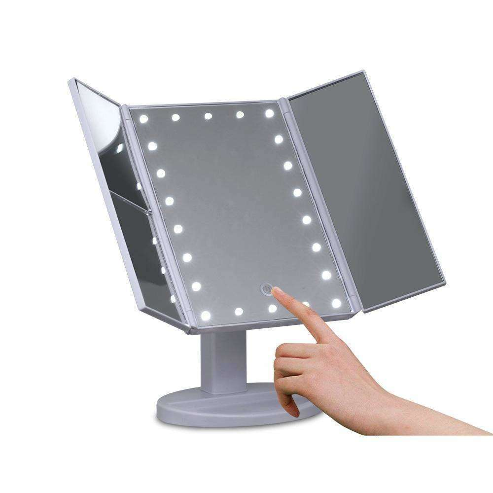 Embellir LED  Tri-Fold Make Up Mirror