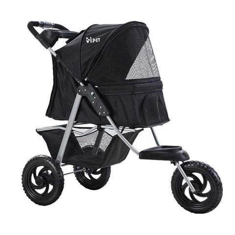 i.Pet Pet Stroller Dog Carrier Foldable Pram Large Black