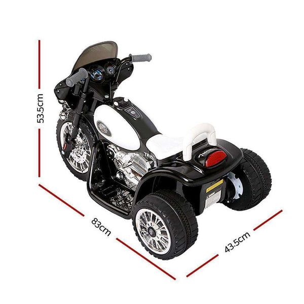 Rigo Kids Ride On Motorbike Motorcycle Toys Black White