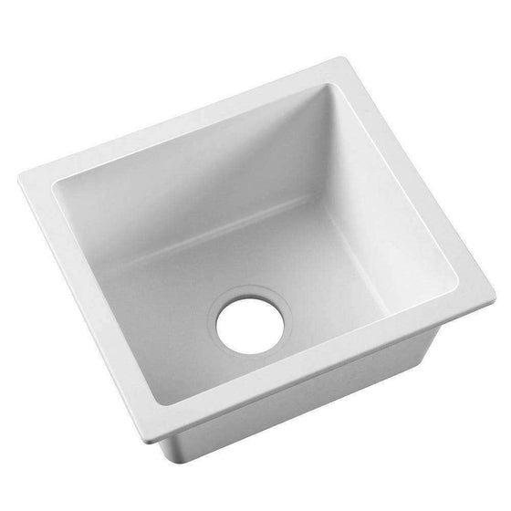 Cefito Granite Stone Kitchen Laundry Sink Bowl Top or Under mount 460x410mm White