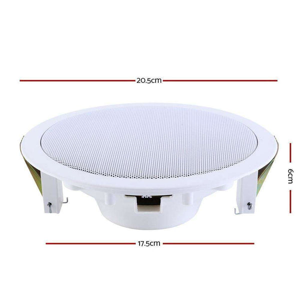 "2 x 6"" In Ceiling Speakers Home 80W Speaker Theatre Stereo Outdoor Multi Room"