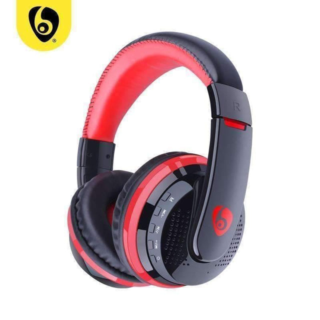 OVLENG MX666 Wireless Bluetooth Music Headphones with Mic Noise Canceling - Red - kartcamel.com.au