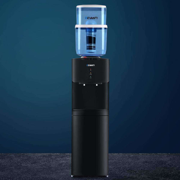 Devanti Water Cooler Chiller Dispenser Bottle Stand Filter Purifier Office Black