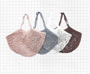 Upcycled Cotton Hand-Crocheted Bag
