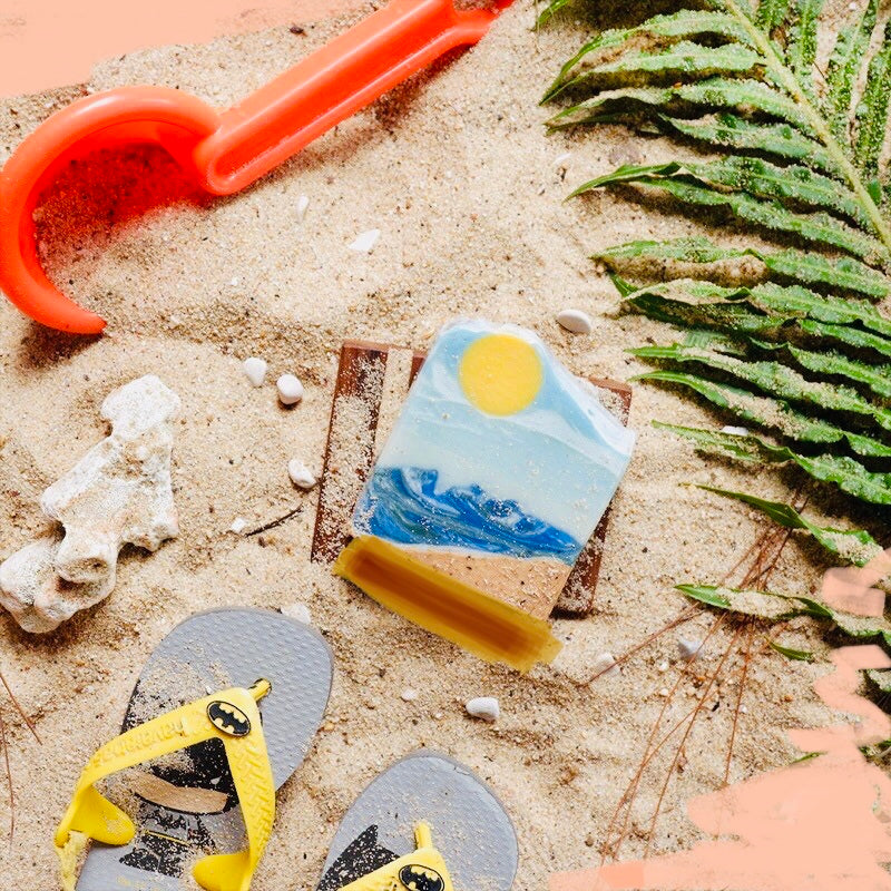 Vegan Artisan Soap Bars - Sunrise At The Beach - Ecofrenli.com