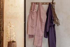 """Sleeping Culture"" Linen Pajamas for Men / Women - Ecofrenli.com"