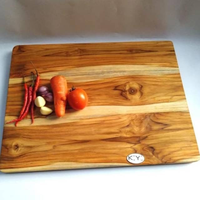 """I'm Handmade"" Solid Teak Wood Reversible Cutting Board - Ecofrenli.com"