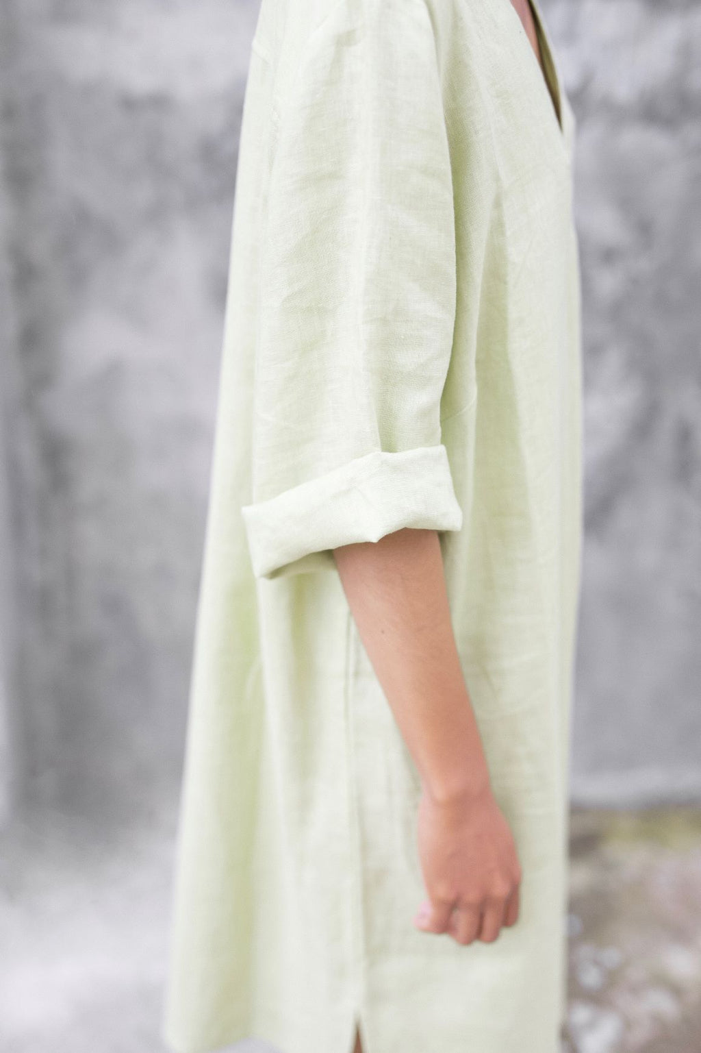 """Sleeping Culture"" Linen Relax Dress-shirt - Ecofrenli.com"