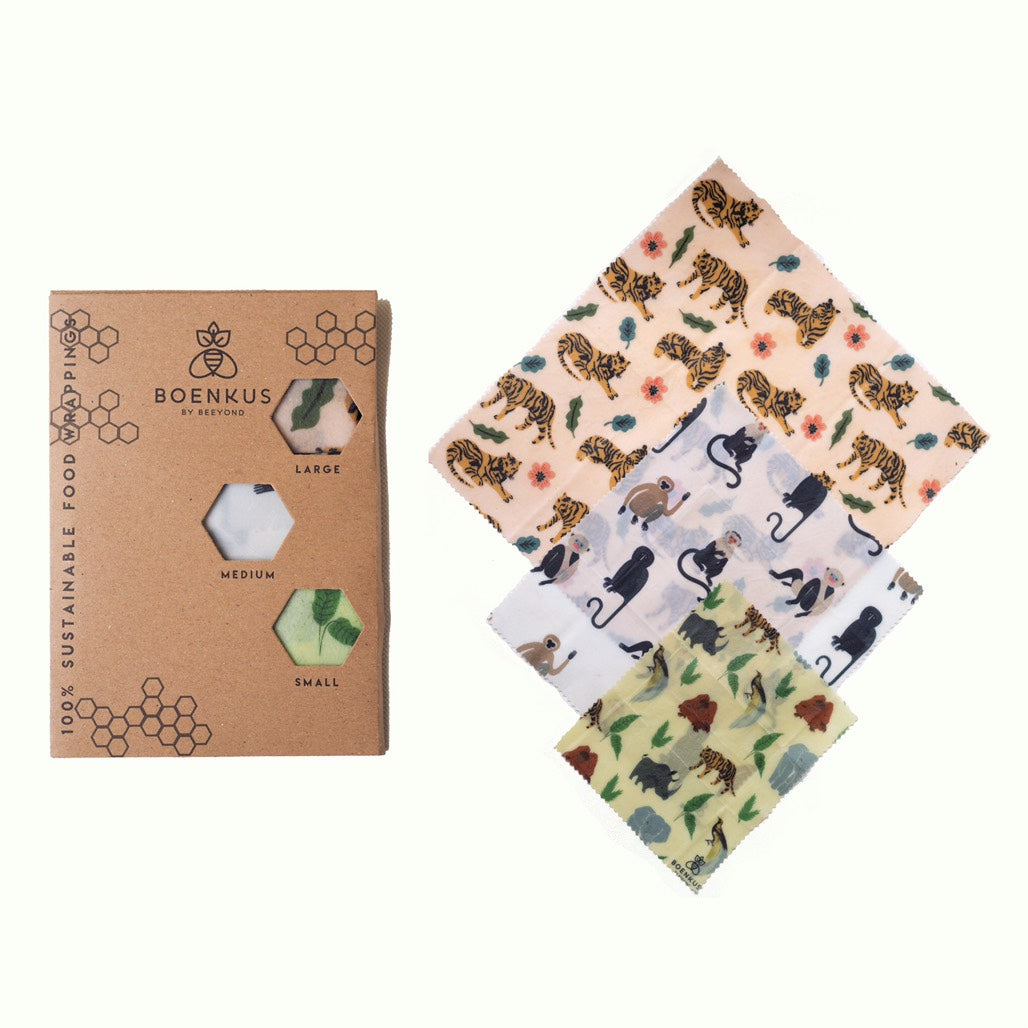 REUSABLE BEESWAX FOOD WRAP (Wildlife Animal) - Ecofrenli.com