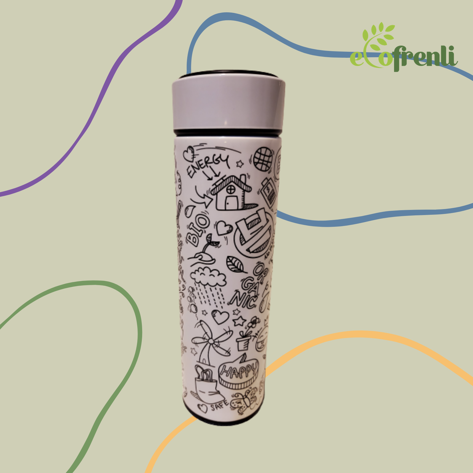 Cool Sporty Stainless Eco Tumbler - Ecofrenli.com