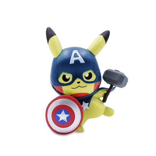 figurine pokemon nidoran, Figurine Pokemon <br>Pikachu</br> Captain America - frpokemon1