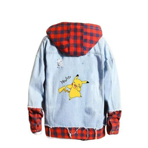 veste pokemon sun city, Veste Pokemon <br>Carreaux</br> Pikachu Yeah ! - frpokemon1