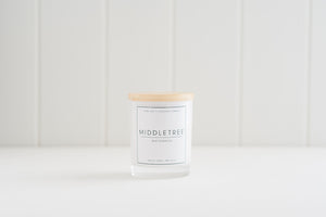 Handmade Pure Soy Coconut Candle Classic Gloss White 40hr Middletree