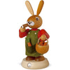 Smoking man Easter bunny, male hand-painted, 4.3x7.5 inches - GermanChristmasDreams