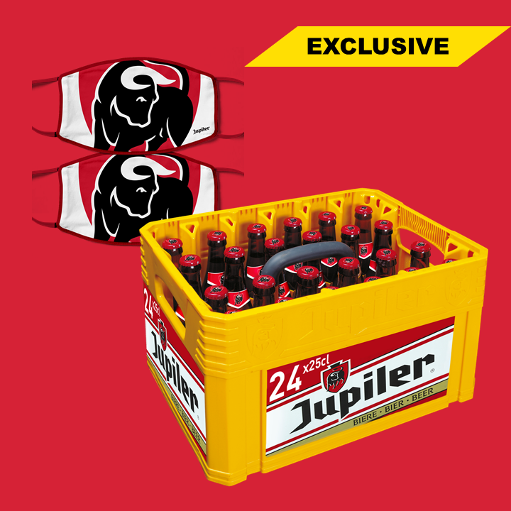 COMBO DEAL - Jupiler 24x 25cl + 2 Masques Jupiler - Jupiler Shop