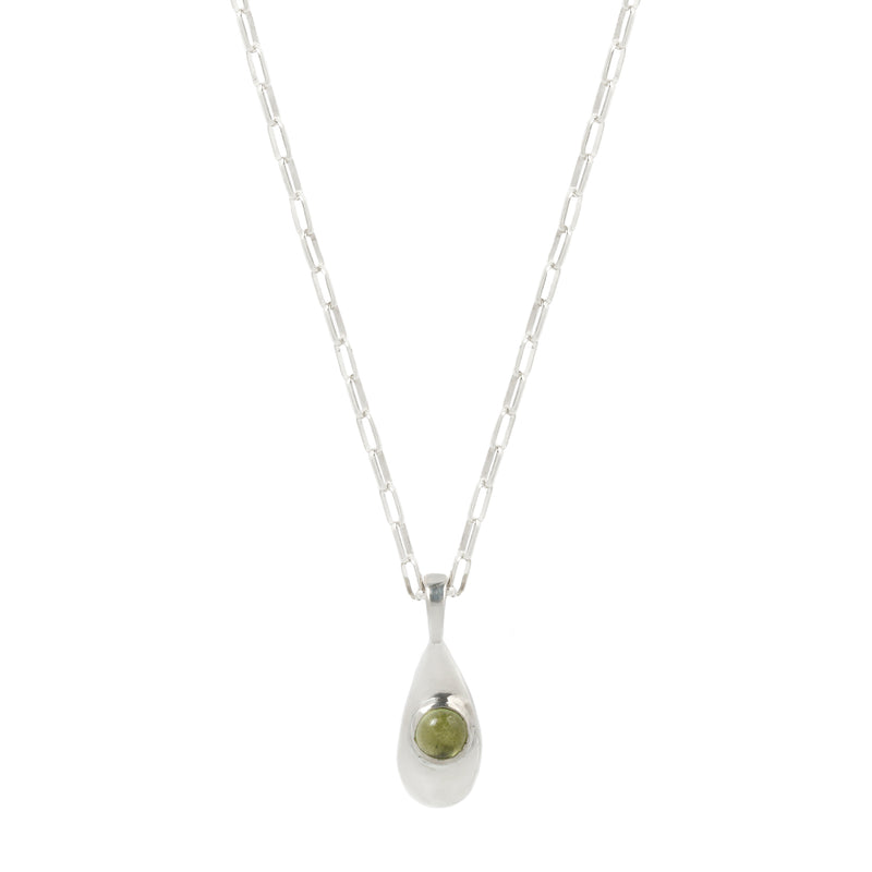 AGUA NECKLACE - SILVER/PERIDOT