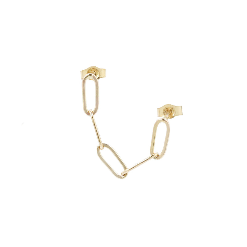 CHAIN EARRINGS - DOUBLE PIERCING EARRING SINGLE