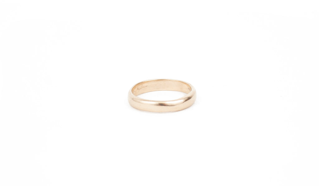 CLASSIC ROUNDED BAND 14K GOLD