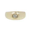 DOMED RING 14K & OVAL DIAMOND