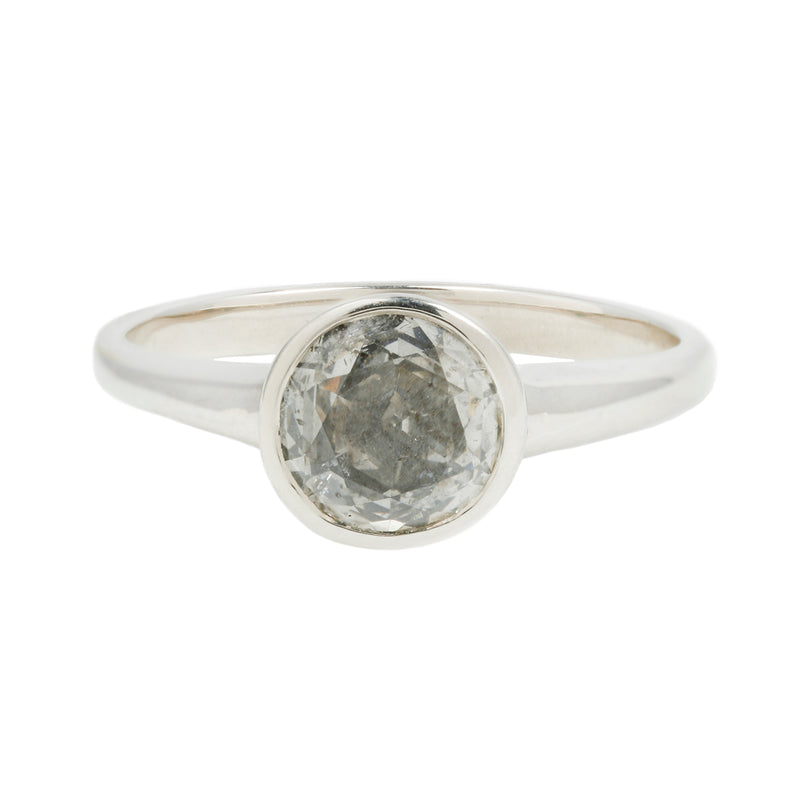 ALICE RING - GRAY DIAMOND &  14K WHITE GOLD
