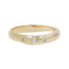 THREE STONE HART RING - 14K & DIAMOND