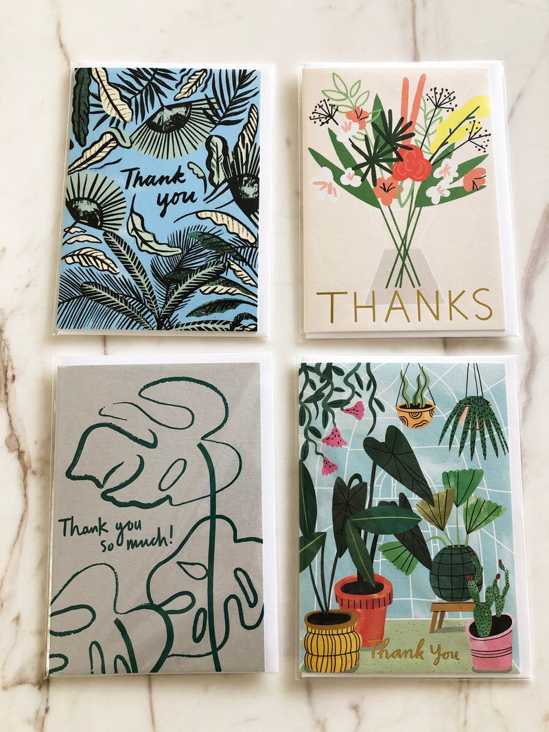 WRAP CARDS // 4 PACK THANK YOU CARDS
