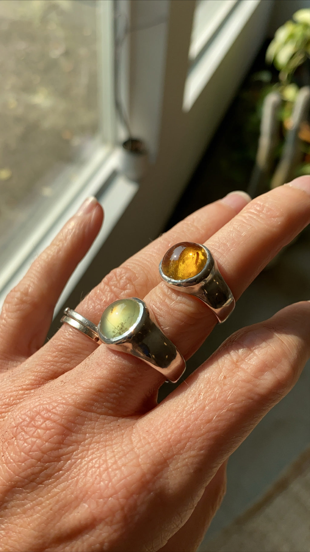 SIZE 8 - RISE RING - STERLING SILVER/CITRINE