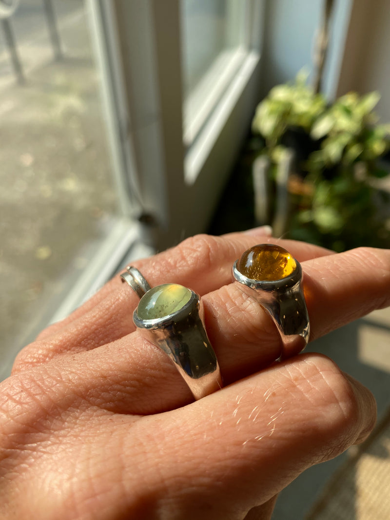 SIZE 7 - RISE RING - STERLING SILVER/CITRINE