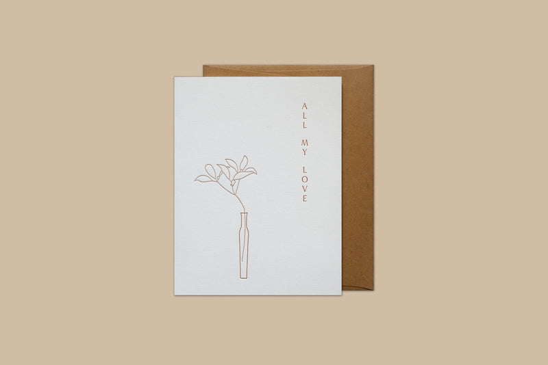 IKEBANA ALL MY LOVE CARD
