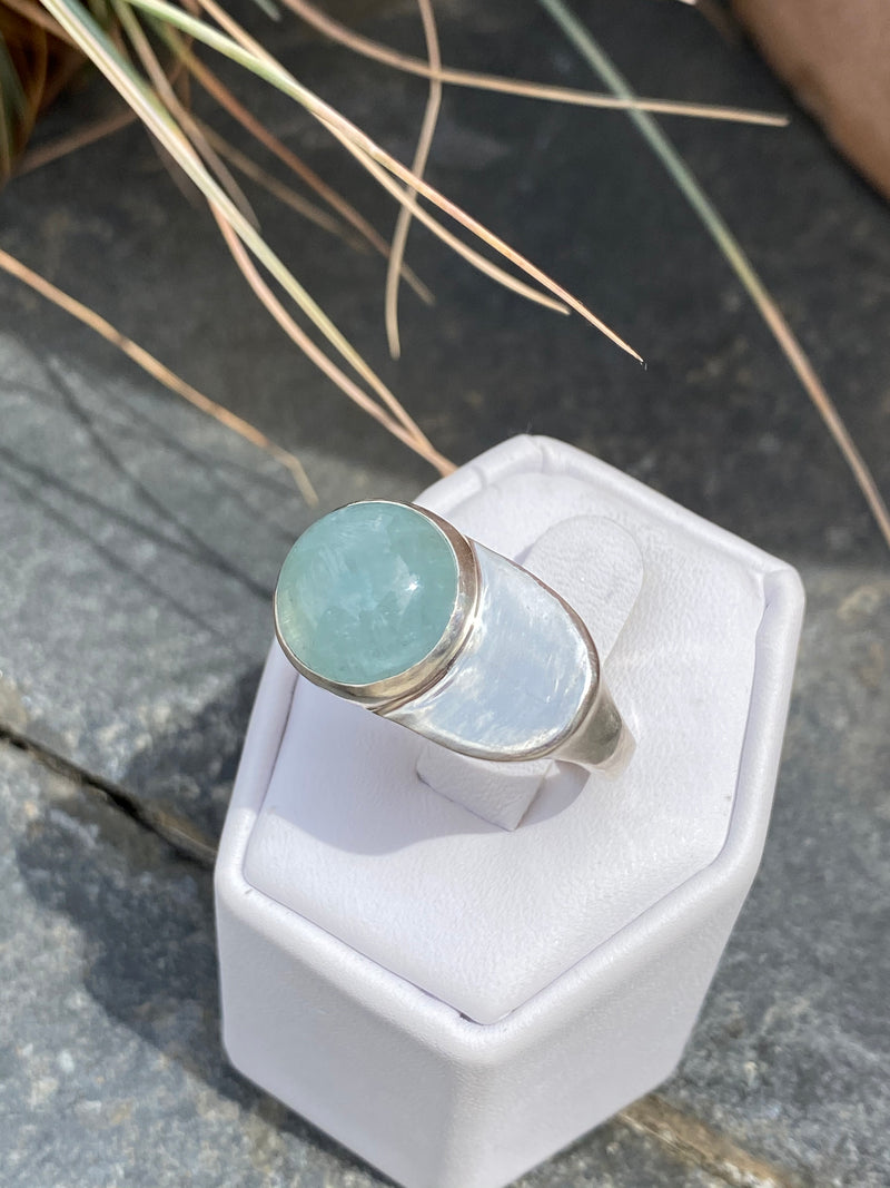ESPOSA RING - STERLING SILVER/AQUAMARINE READY TO SHIP