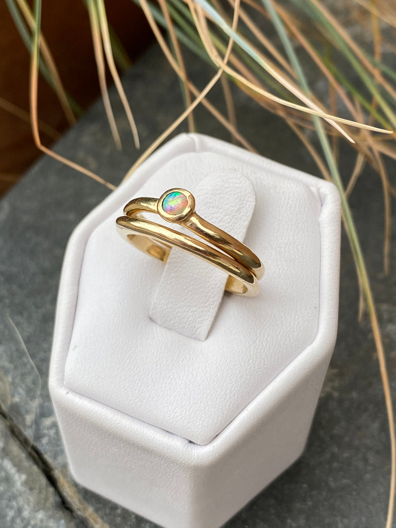 DROPLET RING STACK - GOLD - READY TO SHIP