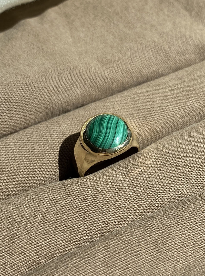 RISE RING - MALACHITE - READY TO SHIP