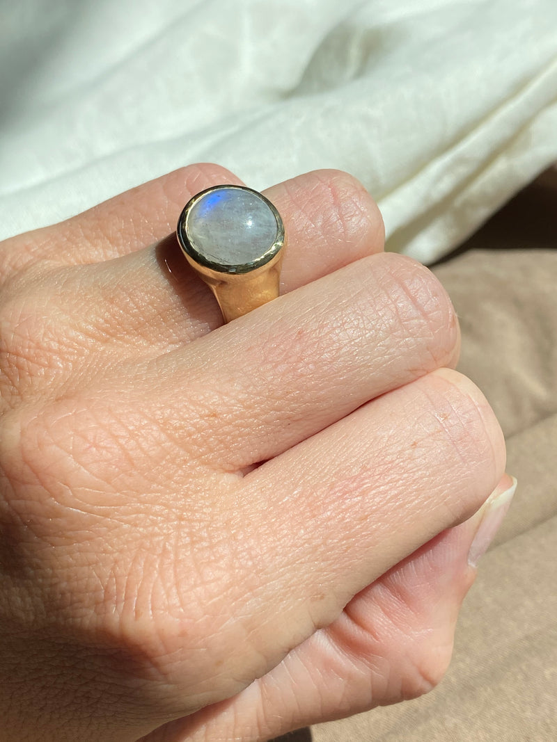 RISE RING - MOONSTONE - READY TO SHIP