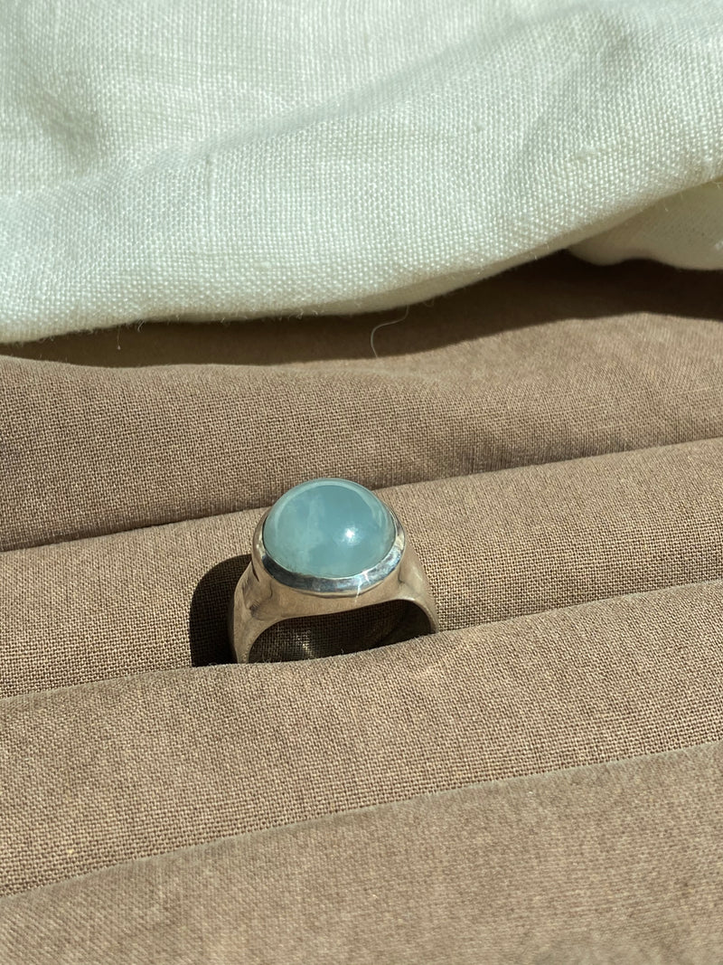 RISE RING - SILVER/AQUAMARINE - READY TO SHIP