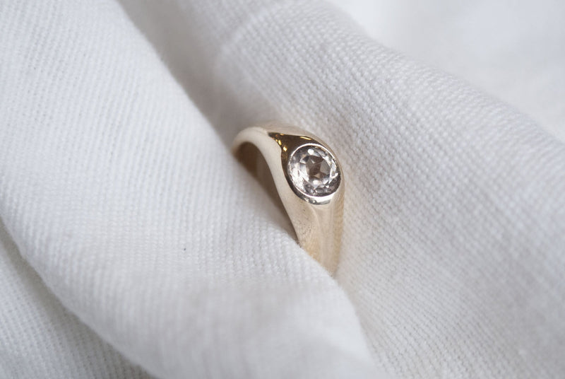 ASTRID RING - Morganite & 14k Gold