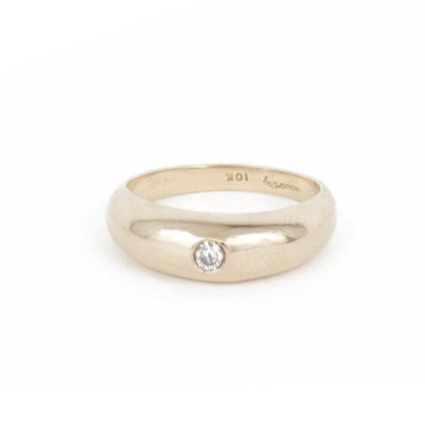 SETTING SUN RING - GOLD WITH DIAMOND