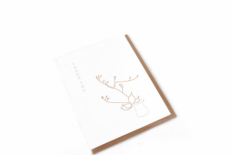 IKEBANA THANK YOU CARD