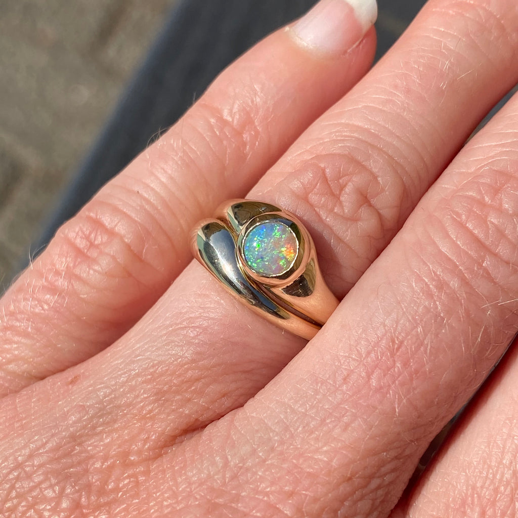 EMMELINE RING SET - GOLD / OPAL