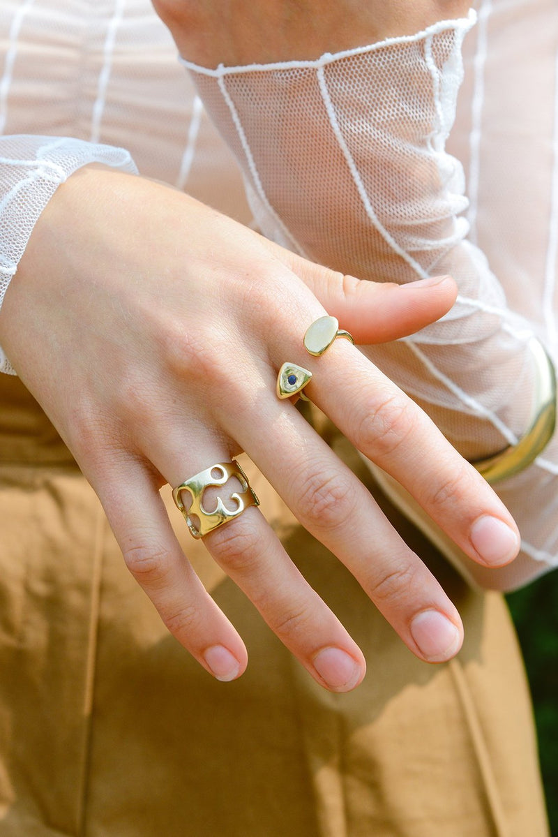 POPPY RING WITH STONE