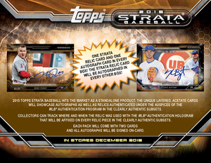 PURCHASE 2 TEAMS: 2015 Topps Strata Baseball ID 15STRATABASE119