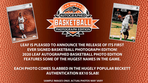 Purchase 2 TEAMS: 2020 Leaf Autographed Basketball SLABBED Photograph Edition ID LEAFBASKPH112