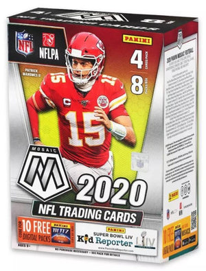 Purchase 2 TEAMS: BLASTER BOX 2020 Panini Mosaic Football Blaster Box ID 20MOSFBBLA216