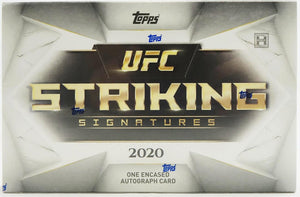 2 BOX BREAK: 2020 Topps UFC Striking Signatures ID 20UFCSTRIKE111