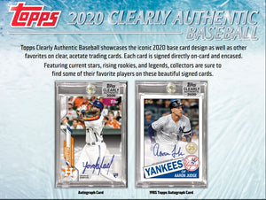 FIRST NAME LETTER BREAK: 2020 Topps Clearly Authentic Baseball ID 20CLEARLYA214