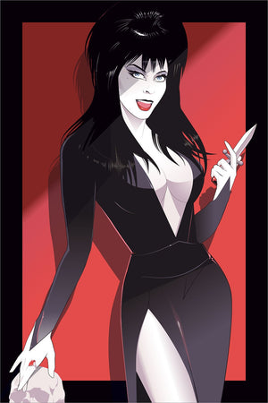 ELVIRA Red Variant by Craig Drake Limited Edition Print ID ELVIRA101