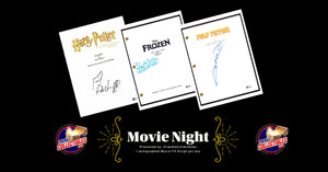 FriendlyCollectibles Presents: Movie Night, Autographed Movie Scripts ID MOVIENIGHT131