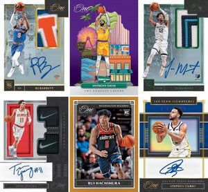 RANDOM SINGLE TEAMS: 2019_20 Panini One and One Basketball ID 1920PANONE101