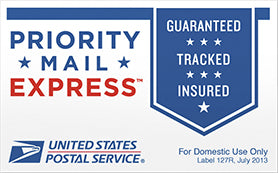 USPS Priority Express Shipping - DOMESTIC ONLY